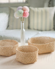 Load image into Gallery viewer, Habi Lifestyle Sinta Beaded Basket Tray