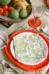 6 Piece Woven Placemat and Coaster Set