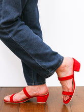 Load image into Gallery viewer, Habi Luxe: Belle Slim Heels (Red)