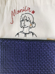 Embroidered Foldable Tote Bag