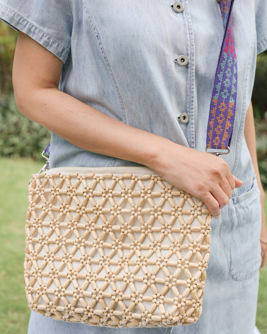 Habi Lifestyle Sinta Beaded Bag Amelia Maxi with Langkit