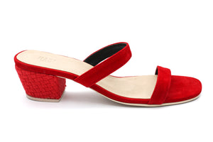 Habi Luxe: Belle Slim Heels (Red)