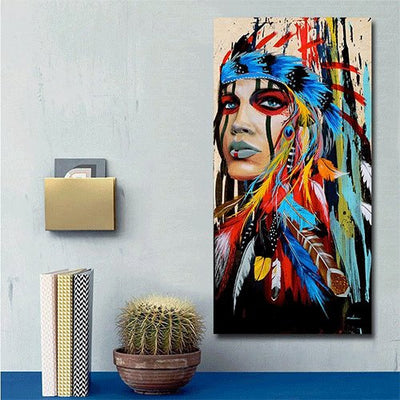 Modern Wall Art Prints Native American Indian Girl