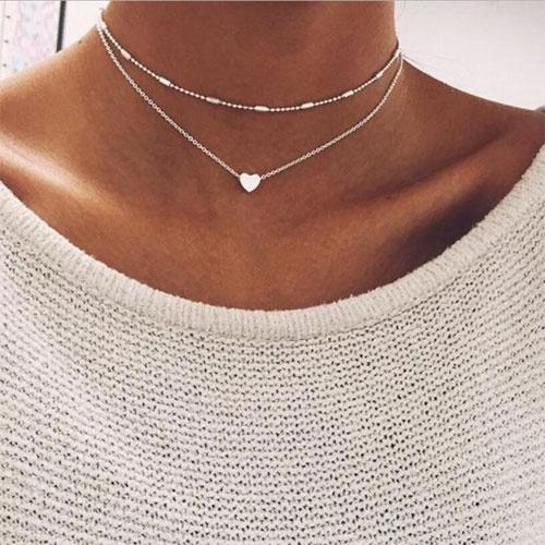 Brand Stella Necklace Women Phase Heart Necklace