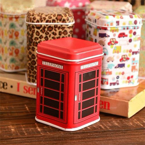 Metal Candy Trinket Tin Jewelry Iron Tea Coin Storage Square Box