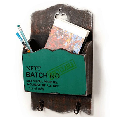 Wooden Mail Letter Storage Holder
