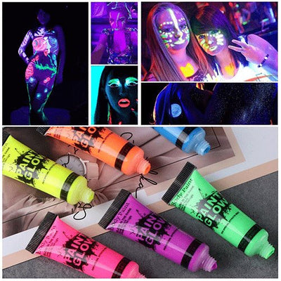Glow In The Dark Painting Peinture Phosphorescent Luminous Makeup