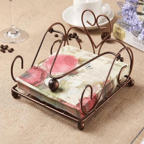 European-Style Lron Paper Towel Rack Dining Room Storage