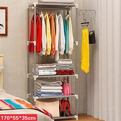 Coat Rack Floor Standing Clothes Hanging Storage Bedroom Furniture
