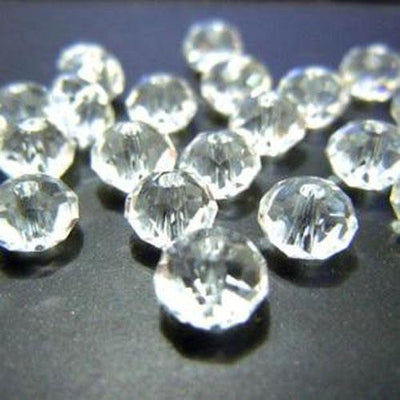 4*6mm 50pcs Rondelle Austria Faceted Crystal Glass Beads