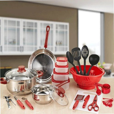 Cookware Sets Bowl Pot Pan Spoon Kitchen Cooking