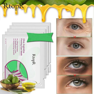 Olive Green Eye Mask Anti-Puffiness Dark Circles