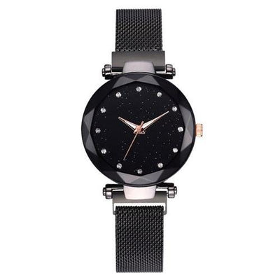 Luxury Women Watches Magnetic Starry Sky Clock