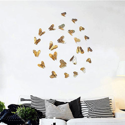 Hollow Wall Stickers Butterfly Fridge For Home Decoration