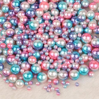 Mix Rainbow Color Round 4/6/8/10mm ABS Lmitation Pearl Beads