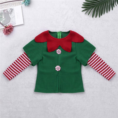Green Elf Christmas Costume For Xmas Party Dress