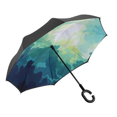 Self Standing Inside Out Rain Protection Umbrella Windproof