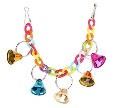 Bell Cage Toys for Parrots Bird Squirrel Funny Chain Swing Toy Pet Bird