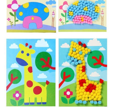 Ball Painting Stickers Educational Learning Handmade Toys