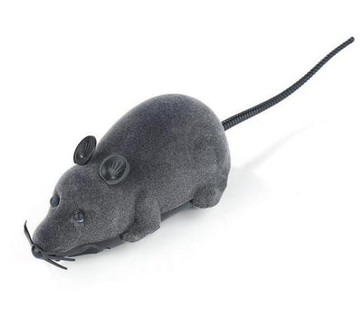 Pet Mice Toy Wireless RC Gray Rat Remote Control Mouse