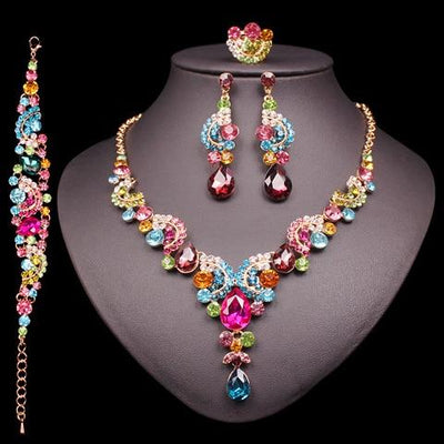 Fashion Bridal Necklace And Earrings Sets