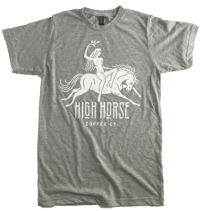 Priestess Tee - Heather Grey - Men's - High Horse Coffee Company