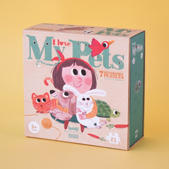 I Love My Pets Puzzle-21 pcs -Reversible 3+yrs