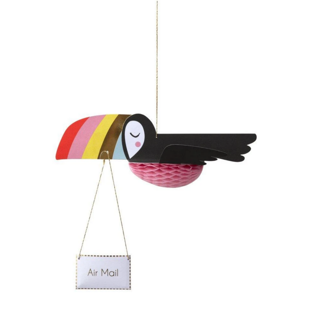 Flying Toucan Card-Birthday