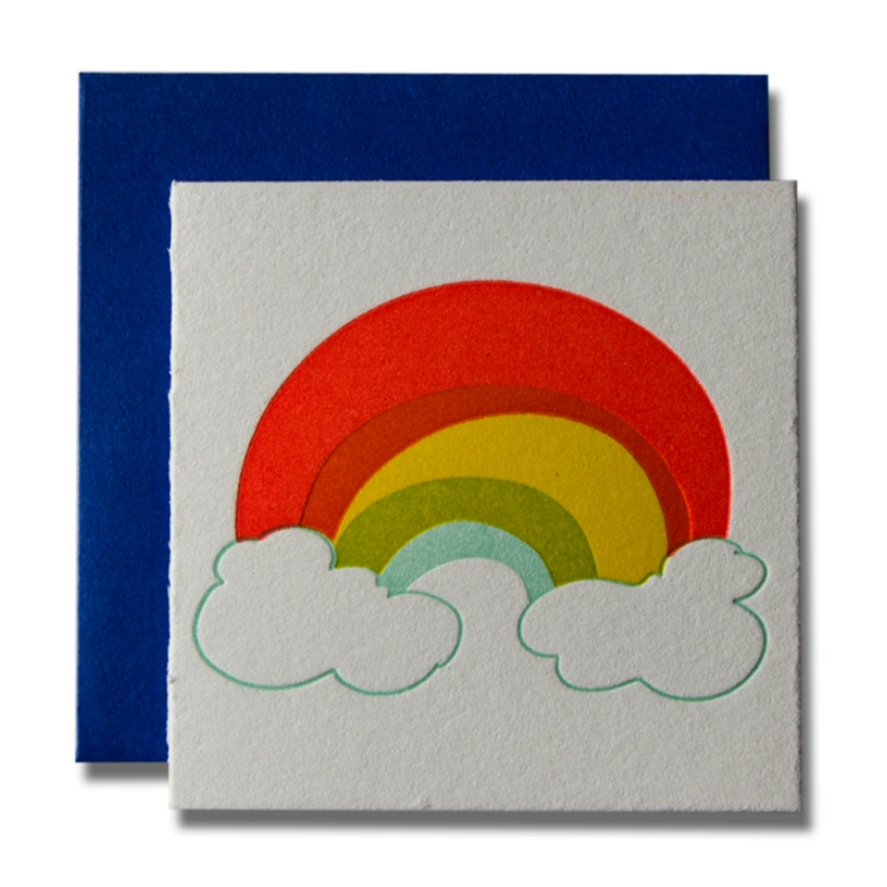 Tiny Card Rainbow -Blank