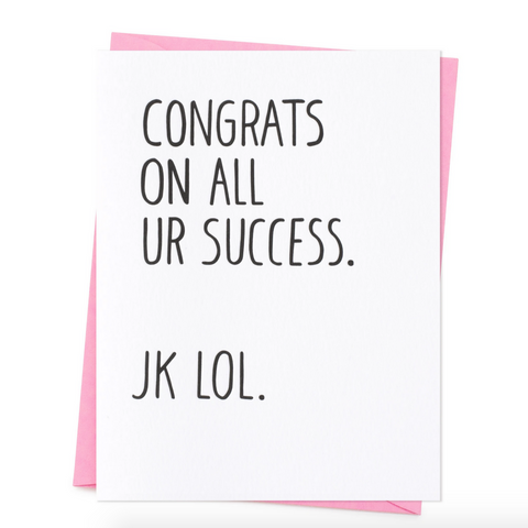 Congrats Success JK LOL-Congratulations