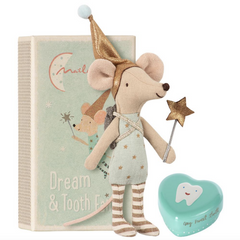 Tooth Fairy Big Brother Mouse with Metal Tooth Box