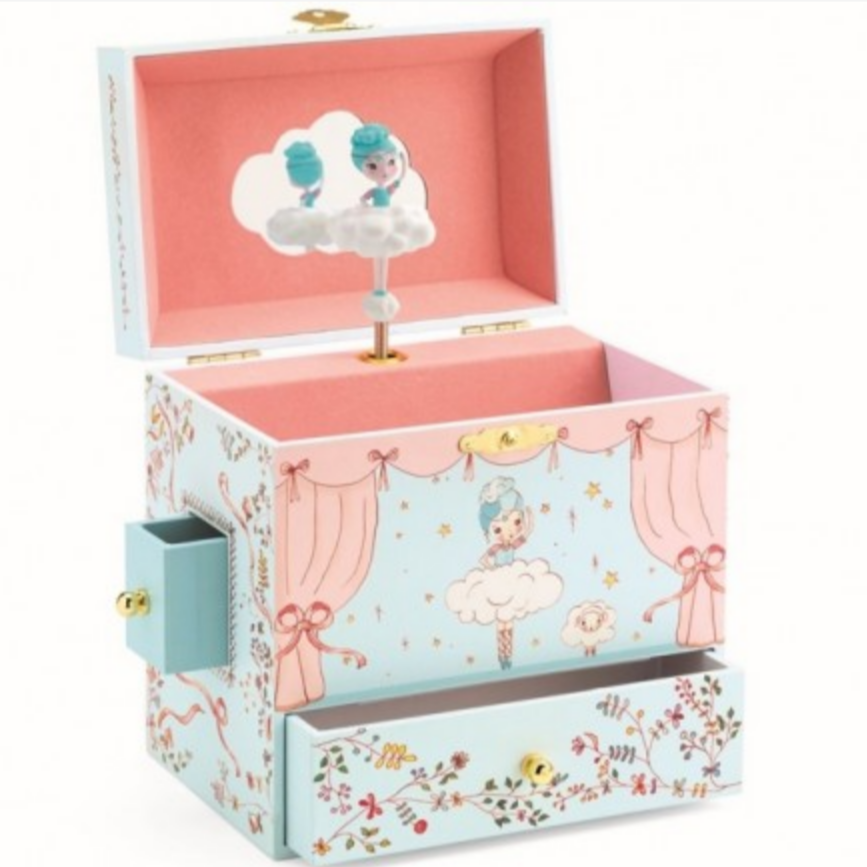 Ballerina On Stage Treasure, Jewelry and Music Box