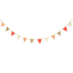 Coral Knitted Flag Garland