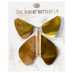 Gold Metallic Flying Magic Butterfly