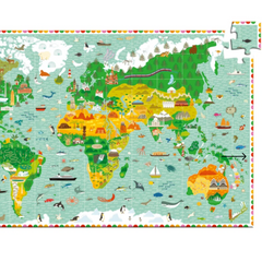 Observation Around the World Puzzle and Booklet-200pcs 7+yrs
