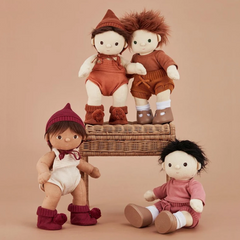Dinkum Doll Snuggly Set -berry