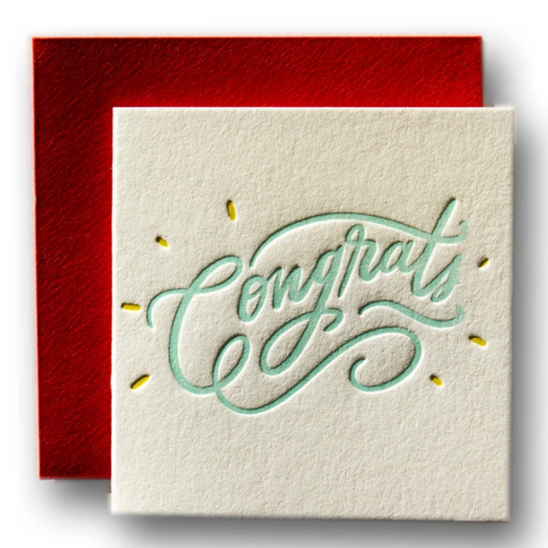 Tiny Card -Congrats  -Congratulations