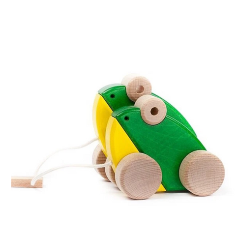 Bajo Wooden Double Frogs Pull Toy 1yr+