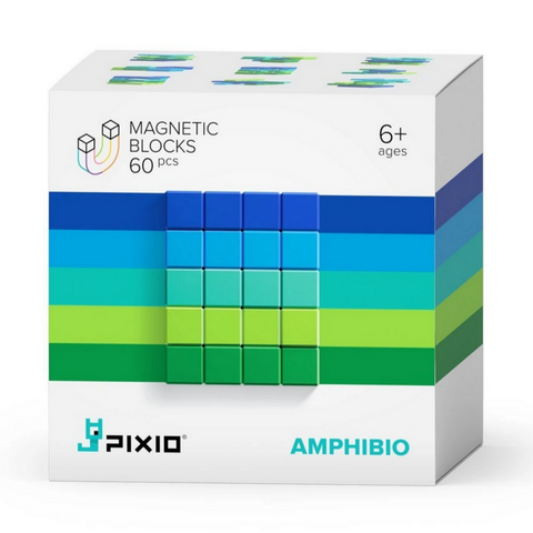 PIXIO Abstract Series AMPHIBIO - 60 Magnetic Blocks in 5 Colors 6yrs+