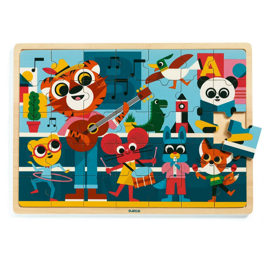 Wooden Puzzle Puzzlo Music 35pcs 4yrs+