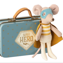 Super Hero Mouse In Suitcase: Yellow Stripes