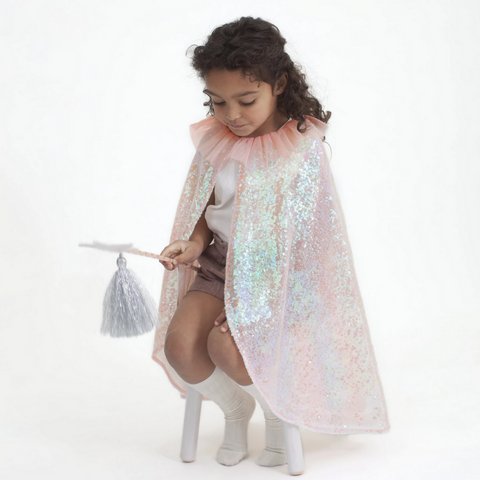 Iridescent Sequin Cape & Wand