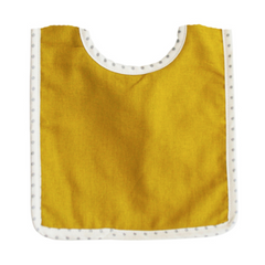 Bobby Bib -Butterscotch Linen