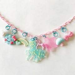 Unicorn Necklace on Pink Chain