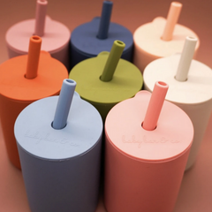Silicone Lid Cup With Straw