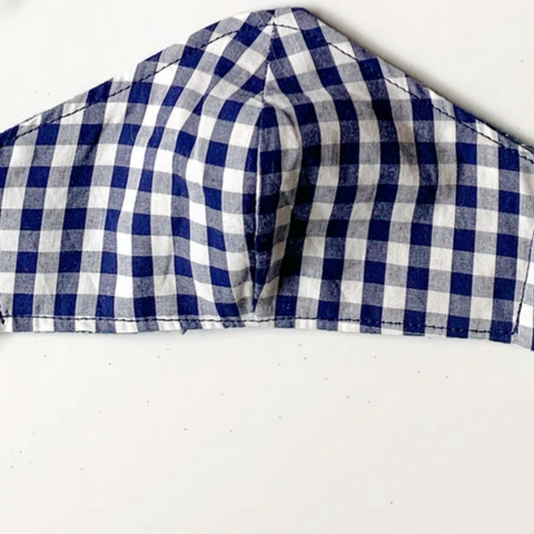 Navy Gingham -kid's sm/med/lg & adult(one size)