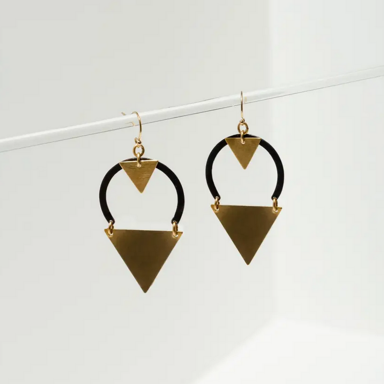 Dart Earrings -Black