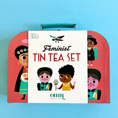 Feminist Tin Tea Set -Ingela P Arrhenius 3yrs+