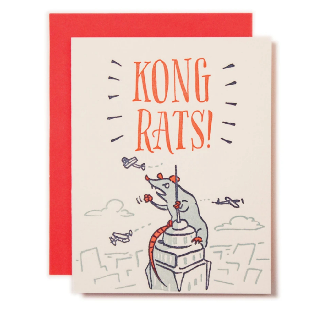 Kong Rats Card -Congratulations
