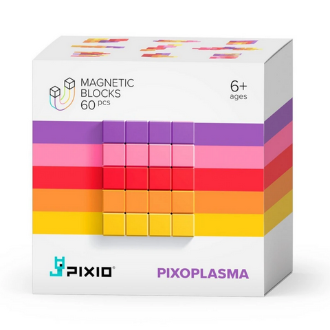 PIXIO Abstract Series PIXOPLASMA - 60 Magnetic Blocks in 5 Colors 6yrs+